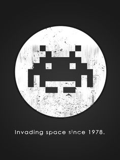 """Invader Hero"" Stretched Canvas by Head Glitch on Society6."