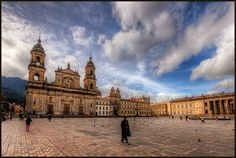 The Plaza de Bolivar is the main square in Bogota, Colombia. I was fortunate to stay close by so I headed out to the plaza in the morning, in the early sun. The church is the main cathedral, Catedr… Budget Travel, Travel Tips, Travel Deals, Travel Guides, Leading Hotels, Flight Deals, Travel Dating, Online Travel, Panama City Panama