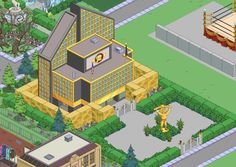 Springfield Simpsons, Springfield Tapped Out, Springfield Heights, The Simpsons Game, Summer Games, Galaxy Wallpaper, Funny Pictures, Funny Pics, Living Room Designs