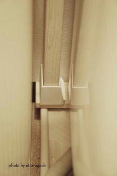 ディアウォールで洗濯機の上に棚を作る時の参考。防水パンが邪魔ならそこに板を置けばいいのね!