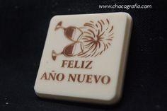 Feliz año chocolate blanco