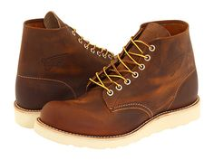 """Red Wing Heritage Classic Work 6"""" Round Toe Copper Rough & Tough - Zappos.com Free Shipping BOTH Ways"""