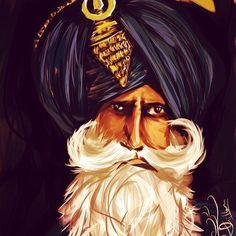 """Sikhi mera saroop"" Awesome illustration design by 🙏🏽 Punjab Culture, Indian Prince, Indian Illustration, Warriors Wallpaper, Dev Ji, Cafe Art, Indian Art Paintings, Pencil Art Drawings, Aghori Shiva"