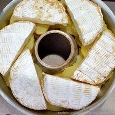 Kartoffelgratin ganz anders: Tartiflette mit dünnen Kartoffelscheiben, cremigem Käse und leckerer Kruste. Gebacken im Wohnmobil mit dem Omnia Backofen