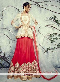 Modernistic Bhagalpuri Silk Resham Work A Line Lehenga Choli