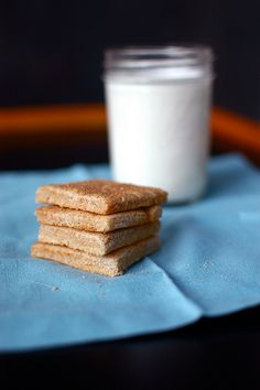gluten free graham crackers and milk by shauna | glutenfreegirl, via Flickr   Can hardly wait to make these for camping!