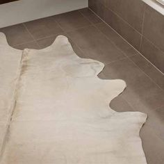 Natural White Cow Hide Rug