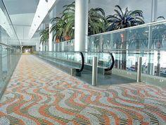 Custom Colorweave installation at the Dubai International Airport. #modularcarpet #carpet #flooring #design #interiordesign #airports #travel #Dubai