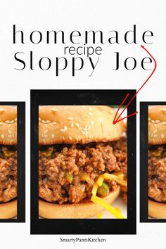 No high fructose corn syrup or preservatives! All -natural, delicious homemade sloppy joe recipe!    #sloppyjoe #bestsloppyjoerecipe Best Sloppy Joe Recipe, Homemade Sloppy Joe Recipe, Homemade Sloppy Joes, Sloppy Joes Recipe, Vegan Sloppy Joes, Sloppy Joe Sauce, Stuffed Mushrooms, Stuffed Peppers