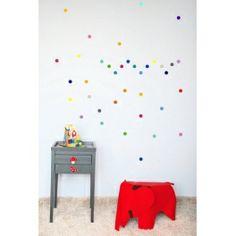 Stickers pois multicolores Pöm dans la boutique!