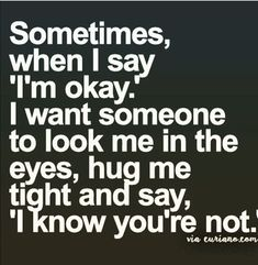 Sometimes I need someone there for me! #PanicAttackPrayer