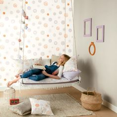 New Caselio collection, Pretty Lili Children& Papers, ideal for . Diy Room Decor For Teens, Teen Room Decor, Teen Bedroom, Dream Bedroom, Bedrooms, Tumblr Rooms, Piece A Vivre, Girl Wallpaper, Office Interiors