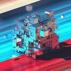 WEBSTA @ philiplueck - [12.27.16] - stripewonder. #noctane #everyday #daily #render #fourteenfourty #1440 #design #digital #digitalart #art #abstract #graphics #graphicdesign #3D #cgi #mograph #inspiration #future #cube #colours #stripe #studio #gsgdaily #thedesigntip #cinema4D #photoshop