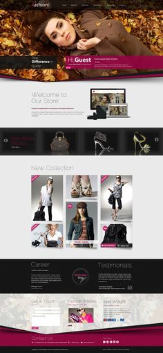 Fashion Shop Responsive WordPress Theme by Wordpress Themes , via Behance