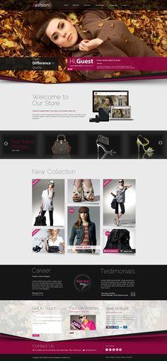 Fashion Shop Responsive WordPress Theme by Wordpress Themes , via Behance