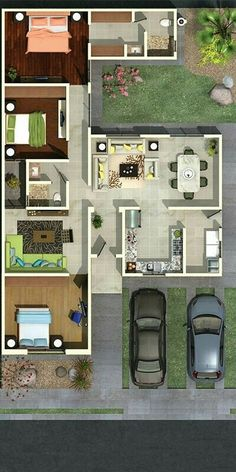 make front bedroom and TV room into MIL Suite, entrance off of side porch. make front bedroom and TV room into MIL Suite, entrance off of side porch. Dream House Plans, Modern House Plans, Small House Plans, House Floor Plans, My Dream Home, Modern Houses, House Layouts, Small House Layout, Architecture Plan