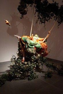Yinka Shonibare MBE,The Swing (After Fragonard), 2001 (Tate, London) © Yinka Shonibare