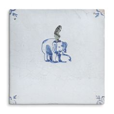 The Monkey and the Elephant is an Old Dutch #Tile, designed by visual #artist Marga Van Oers. The original #design of the Old Dutch tile dates back to ca. 1700 and is part of the tile collection of Kramer Art & Antiques Amsterdam #HomeDeco #StoryTiles #ArtDeco