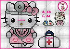 Ponto Cruz e Mais: Hello Kitty em Ponto Cruz - Feitos Por Nós