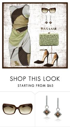 """Untitled #1042"" by gallant81 ❤ liked on Polyvore featuring Emilio Pucci, Oliver Peoples and Elie Saab"