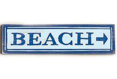 Beach Wood Sign on OneKingsLane.com