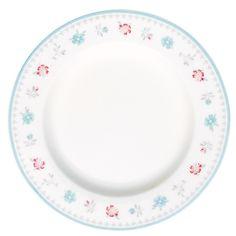 GreenGate Stoneware Small Plate Malou White D 15 cm