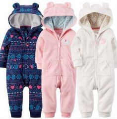 14.32$  Watch here - Baby Kids Rompers 2016 Ropa De Bebe Fleece Outwear Hooded Baby Costume Autumn Snow Wear Rompers Newborn Cotton Jackets Clothes  #aliexpress