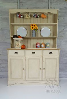 Farmhouse welsh dresser painted in cream with plenty of storage.Delivery offered nationwide.