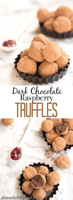 Raspberry Truffles Dark chocolate raspberry truffles is so much easier to make than you might think! It is literally as simple as combining high quality chocolate, cocoa and raspberry jam. Chocolate Truffles, Dessert Chocolate, Raspberry Chocolate, Raspberry Truffle Recipe, Chocolate Chocolate, Delicious Desserts, Dessert Recipes, Fabulous Foods, Food To Make