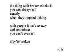 broken clocks.