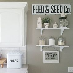 farmhouse kitchen paint color 'Intellectual Gray by Sherwin-Williams'