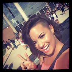 Demi taking adorable selfie