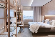 Cumulus Resort Airport Congress Hotel is a modern hotel with interiors designed by Fyra, a female-founded interior design studio, that were inspired by Finnish + Scandinavian design.
