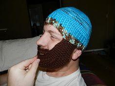 Crochet beanie beard. needs a ginger beard and army green top lol