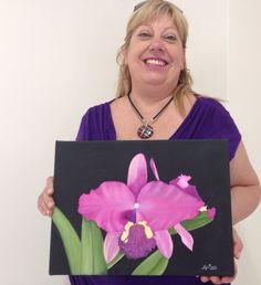 Obra de alumna de 1er año del Profesorado de #pinturadecorativa #art #flower https://j.mp/decorativa