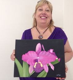 Obra de alumna de 1er año del Profesorado de #pinturadecorativa #art #flower https://j.mp/decorativa