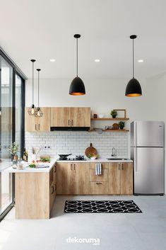 Best Kitchen Cabinets Design Decor Ideas - Kitchen Best Home Design Kitchen Room Design, Home Room Design, Kitchen Cabinet Design, Kitchen Sets, Modern Kitchen Design, Home Decor Kitchen, Interior Design Kitchen, Home Kitchens, Kitchen Design Minimalist