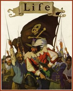 """""""Stand and Deliver!"""", N. C. Wyeth's only Life magazine cover, September 1921"""