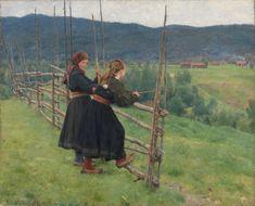 Erik Werenskiold - Google Search Gustave Courbet, Framed Prints, Canvas Prints, Girl Standing, National Museum, Art Google, Poster Size Prints, Art Museum, Photo Mugs