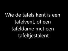 De tafelrap! - YouTube