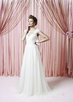Lillie Mae dress from the Charlotte Balbier Iscoyd Park collection Charlotte Balbier Collection 2015 © Matthew Stansfield. All rights reserved Charlotte Balbier, Wedding Bridesmaid Dresses, Chiffon Skirt, Lace Bodice, Bridal Boutique, One Shoulder Wedding Dress, Gowns, Park, Style