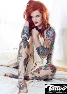 Full Body Flower Tattoo For Women - https://tattoosdesignplan.com/full-body-flower-tattoo-for-women/
