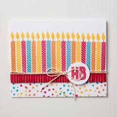 Who wouldn't love to have this bright, happy birthday card made with the Birthday Yay stamp set?