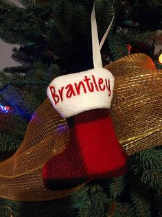Puffy Stocking Christmas Ornament Christmas Ornament