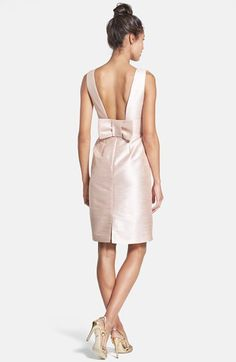 Possiblity for the Bridal Shower| Alfred Sung Boatneck Sheath Dress | Nordstrom