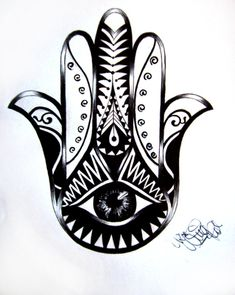 Tattoo Design Hamsa 02 by ~Ninaschee on deviantART