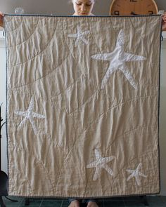 whole cloth starfish quilt, way cool