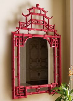 chinoiserie wall mirror