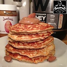 cinnamon almond protein pancakes - THE FIT BALD MAN