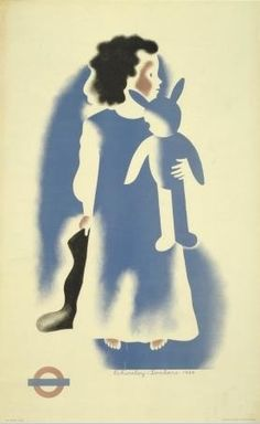 Christmas Girl, by Tom Eckersley and Eric Lombers, 1936. Poster & Art Collection, The London Underground